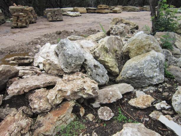 Natural limestone boulder